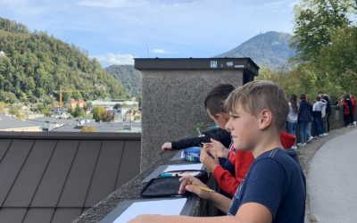 Outdoor-BE der Klasse 3b in Coronazeiten